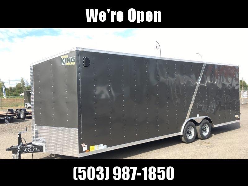 8.5x24 Tandem Axle Enclosed Cargo Trailer ** Plus Height**