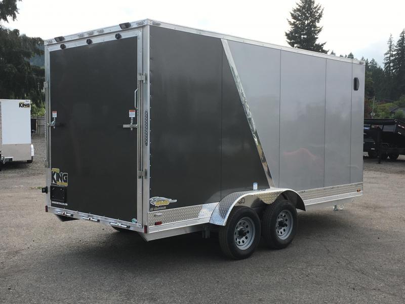 7x16 Tandem Axle Enclosed Aluminum Cargo Trailer **FACTORY ORDER**