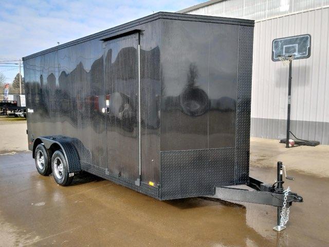 7 X 16 Enclosed Cargo Trailer  **  Rear Ramp Door  **  Roof Vent  **  Dome Light  **