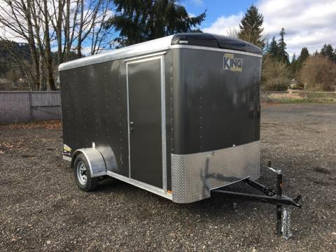 6x12 Enclosed Cargo Trailer With Double Door