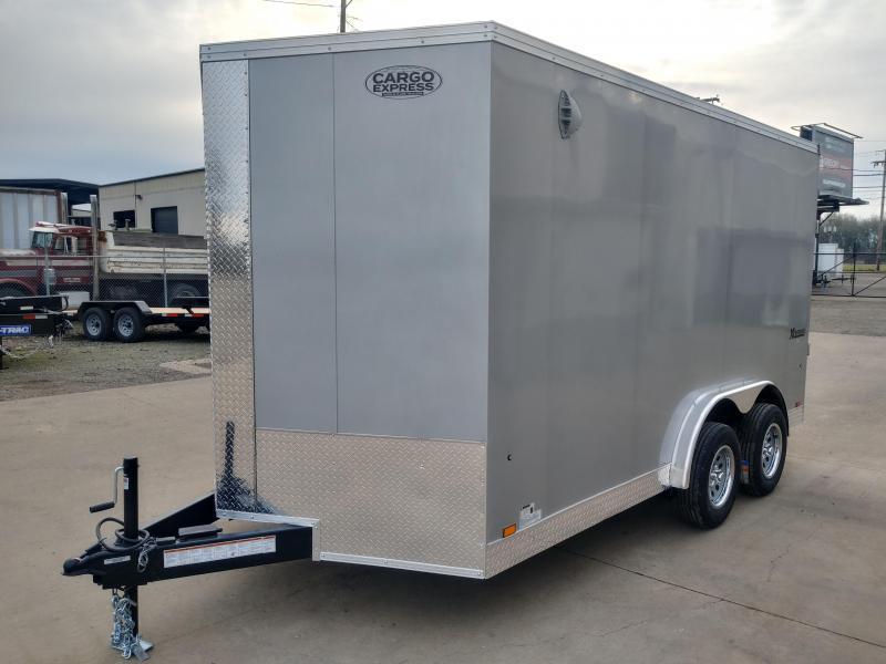 7X14 Enclosed Cargo Trailer **7.5 Wide Side X Side**