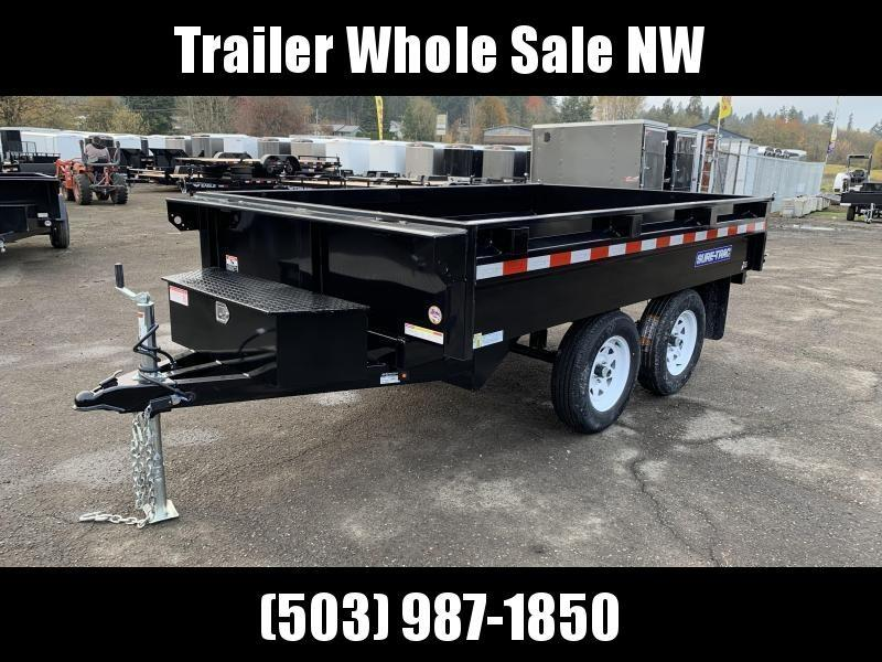 6x10 Deckover Dump Trailer 7K Single Ram