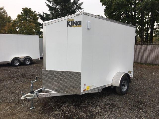 6x10 Enclosed Cargo Aluminum Trailer With Double Door