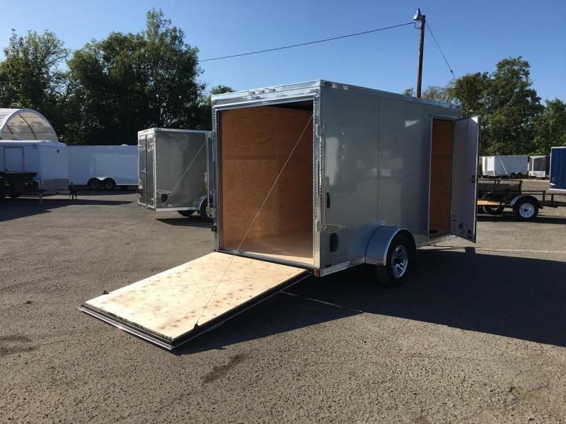 6x12 Enclosed Cargo Aluminum Trailer With Ramp Door