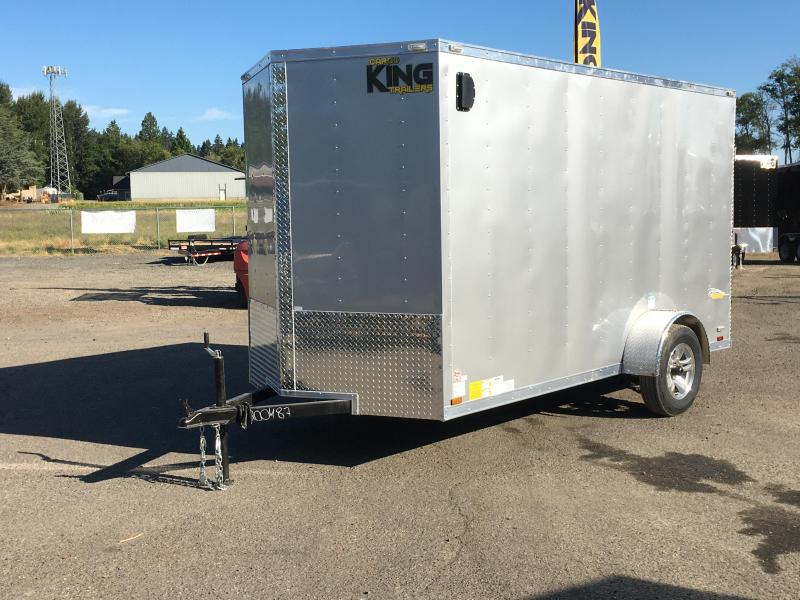 6x12 Enclosed Cargo Aluminum Trailer With Ramp Door