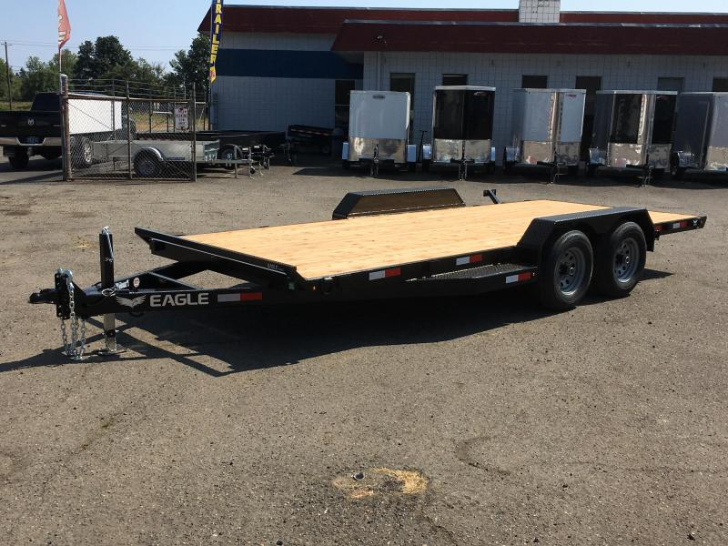 7x18 Car Hauler 10K Open Utility Trailer 5 Inch Main Frame