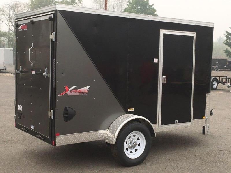 5x10 Enclosed Cargo Trailer **With RV Side Door And Ramp Door**