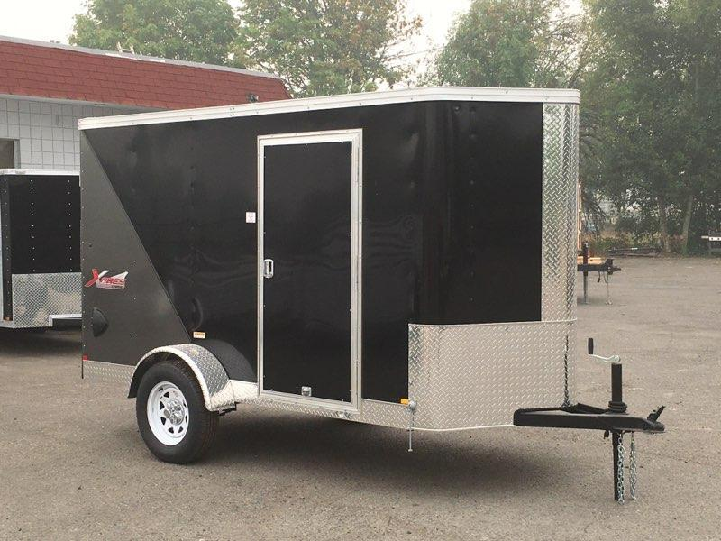 5x10 Enclosed Cargo Trailer **With RV Side Door And Ramp Door**