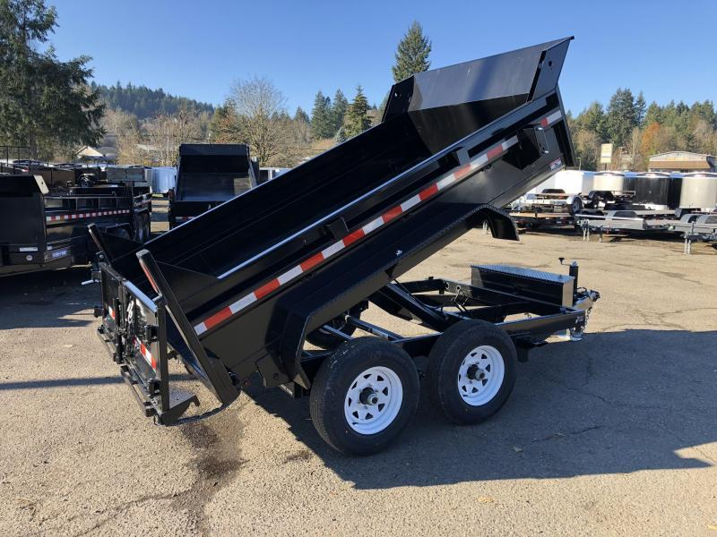 6x10 Dump Trailer 10K Single Ram Dump With Ramps