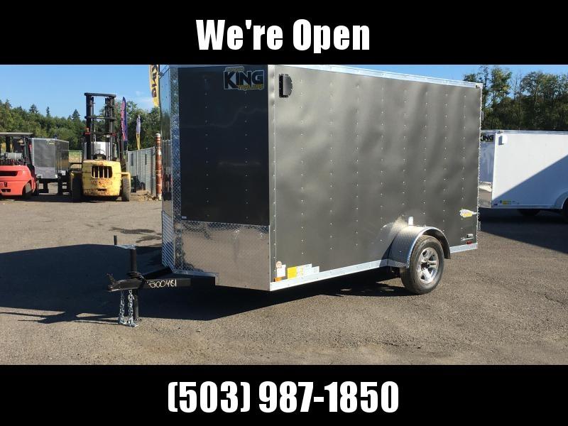 6x10 Enclosed Cargo Trailer With Rv Door and Double Door