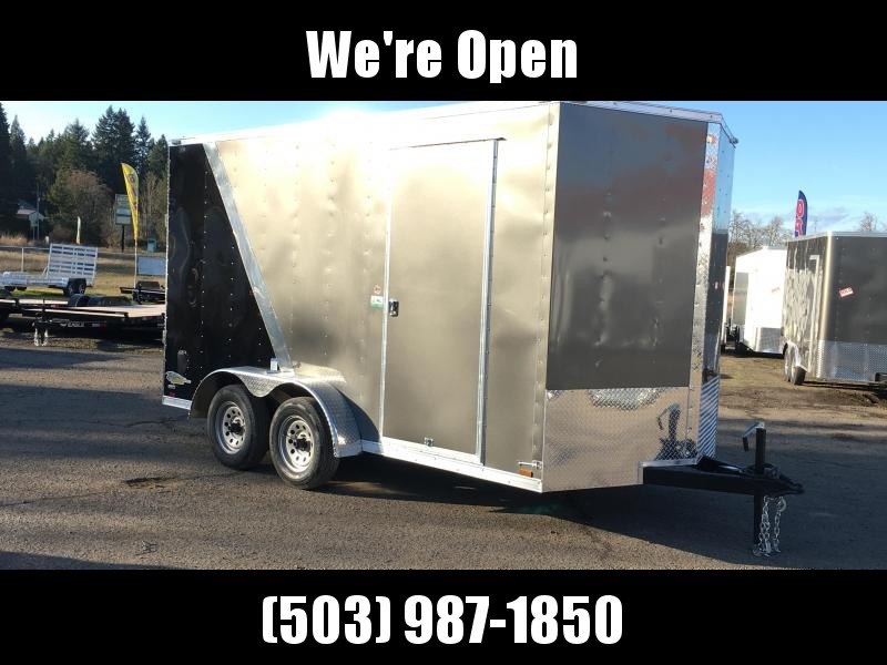 7x14 Tandem Axle Enclosed Cargo Trailer **Side X Side** Factory Scratch & Dent