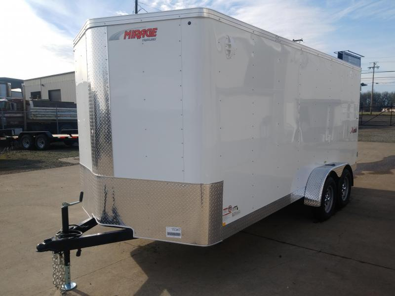 7x16 Enclosed Cargo Trailer  ** 6'' of extra height **  Double Rear Doors  **