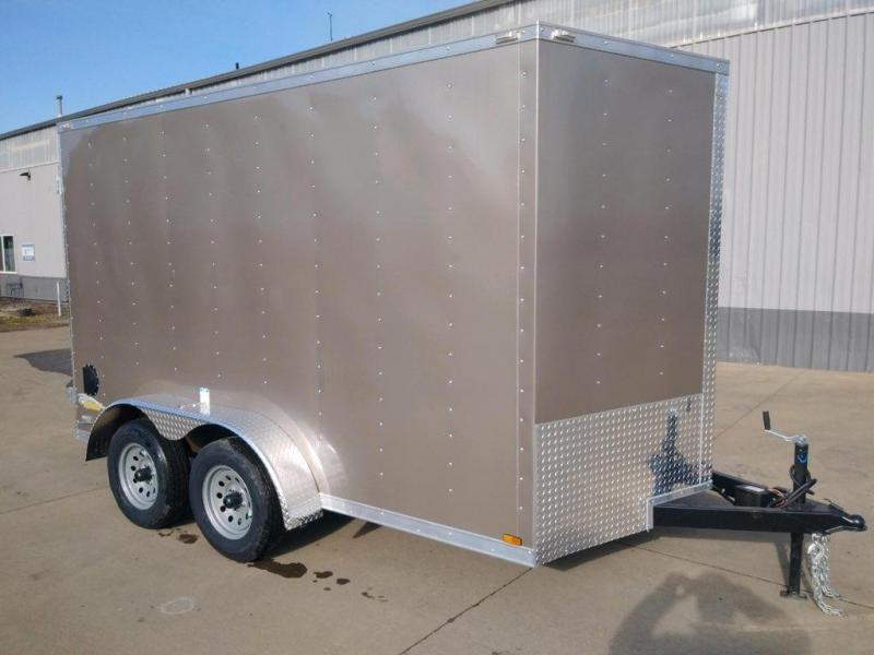 New 7x12 Tandem Axle Enclosed Trailer With Extra Height