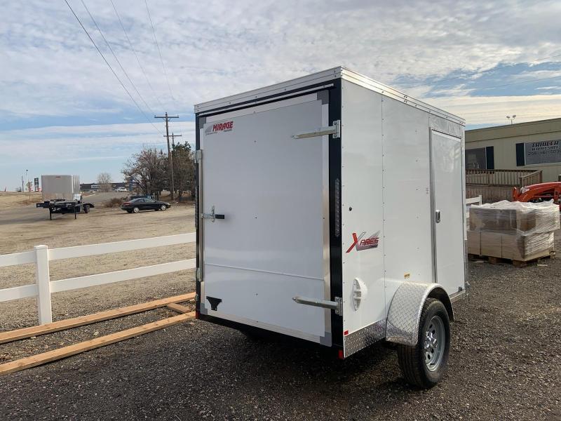 5x8 Single Axle Enclosed Cargo Trailer