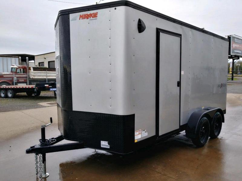 7x14 Enclosed Cargo Trailer  **  Side x Side Package  **  Rear Ramp Door  **