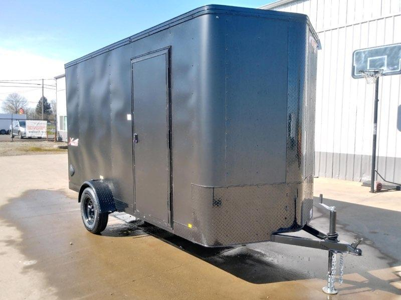 6x12SA Enclosed Cargo Trailer  **  Rear Ramp Door  **  6'' of additional height  **  Pitch Black Package  **