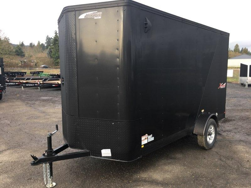 6x12 Enclosed Cargo Trailer Matte Black and Double doors