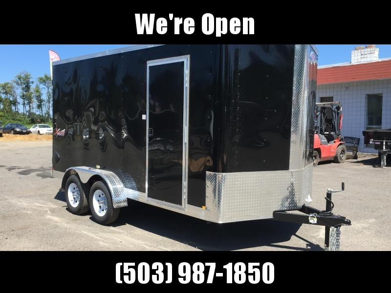 7x14 Enclosed Cargo Trailer Plus Height And Double Door