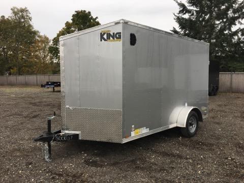 7x12 Tandem Axle Enclosed Cargo Trailer with Ramp Door