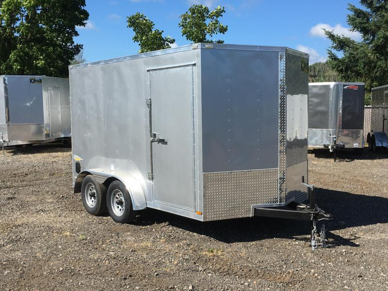 7x12 Tandem Axle Enclosed Cargo Trailer with Ramp Door