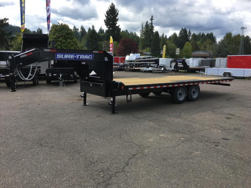 8.5x22 Gooseneck Equipment Trailer Power Tilt  17.6K