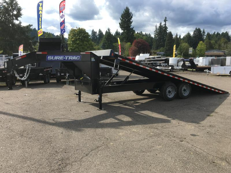 8.5x22 Gooseneck Equipment Trailer Power Tilt  17.6K