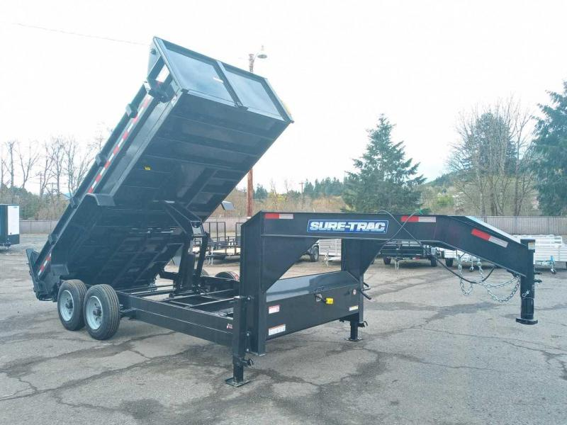 7x16 Gooseneck Dump Trailer 16K Telescopic Dump