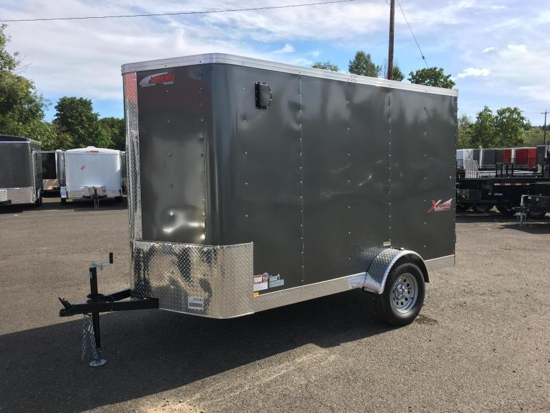 6x10 Enclosed Cargo Trailer With Plus Height Rv Door And Double Door