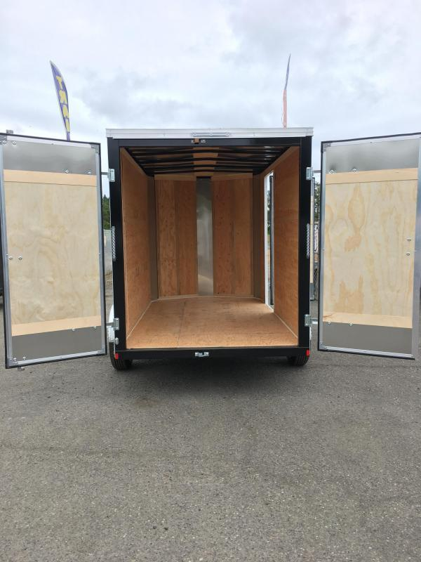 6x10 Enclosed Cargo Trailer With Plus Height Rv Door And Double Door