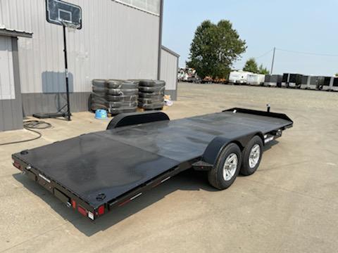 7x18 2021 Sure-Trac 7k Car Hauler **  Removable Fender  **  Ramp Storage  ** Steel Deck **