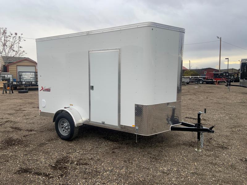 6x10 Enclosed Cargo Trailer with Rear Ramp Door