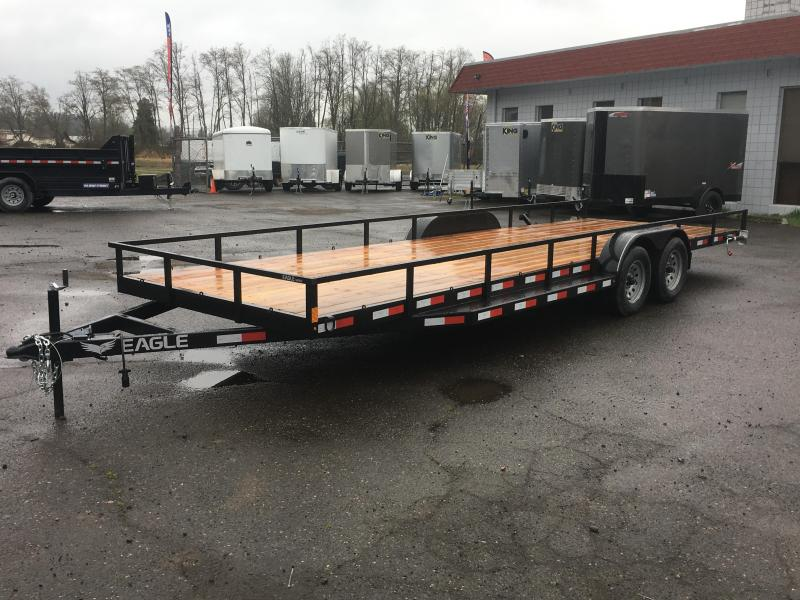 7x24 Double Side X Side ATV TOY Hauler 7k Open Utility Trailer