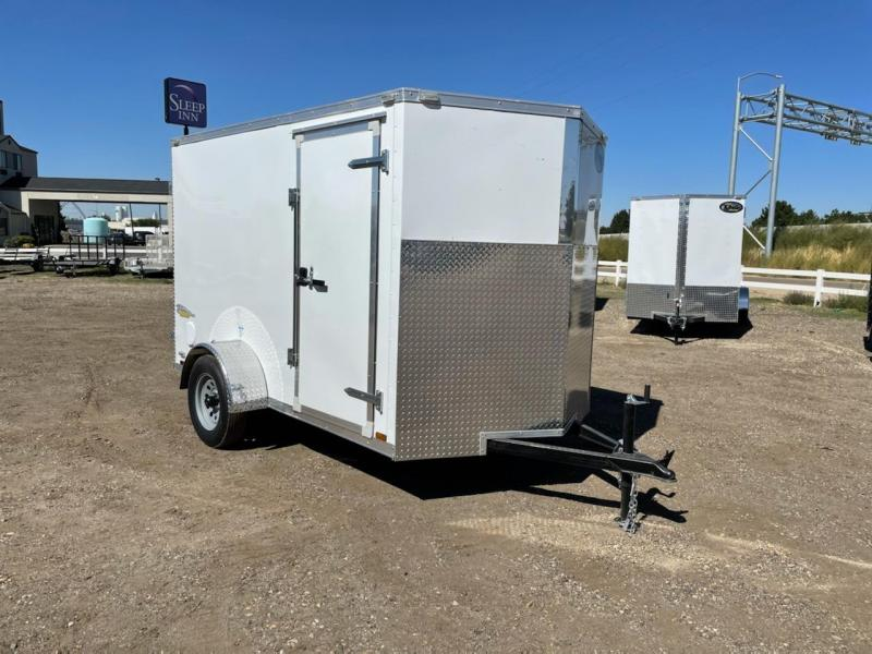 6x10 Enclosed Cargo Trailer With Double Rear Doors