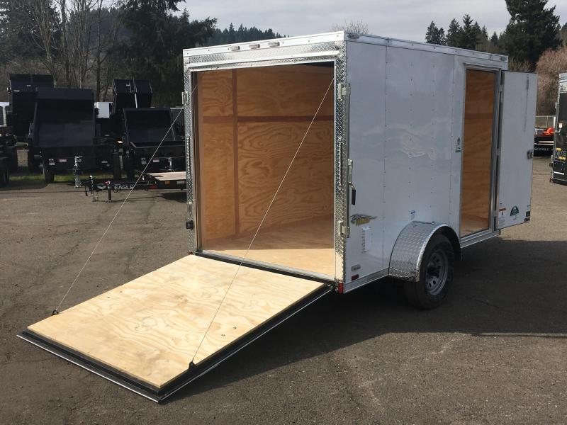 6x10 Enclosed Cargo Trailer **RV Side Door & Ramp Door **
