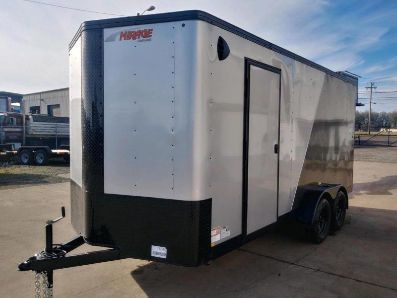 7x16 Enclosed Cargo Trailer  **  Side x Side Package  **  Rear Ramp Door  ** Extra Height  **