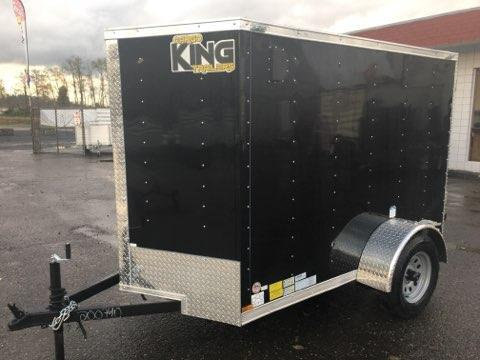5x8 Enclosed Cargo Trailer Black