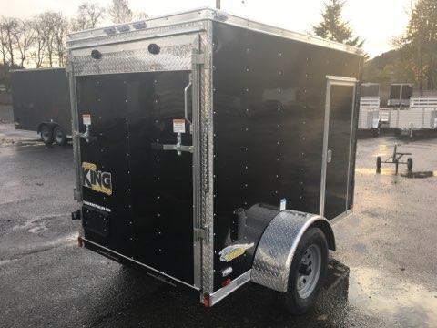 5x8 Enclosed Cargo Trailer Black