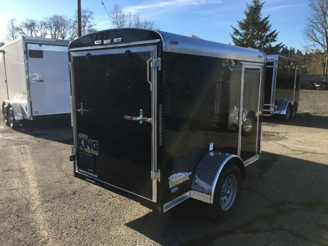 5x8 Enclosed Cargo Trailer With Ramp Door