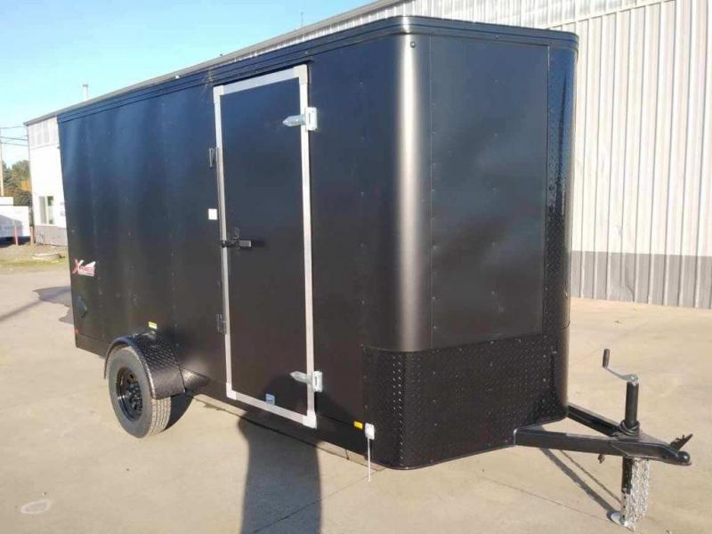 6 x 12 Enclosed Cargo Trailer ** Rear Ramp Door ** Pitch Black package **