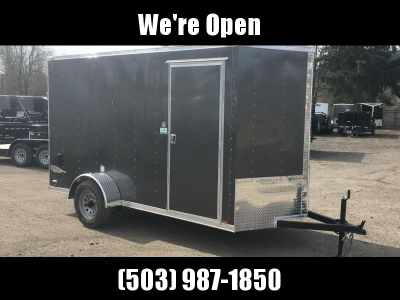 6x10 Enclosed Cargo Trailer With Ramp Door