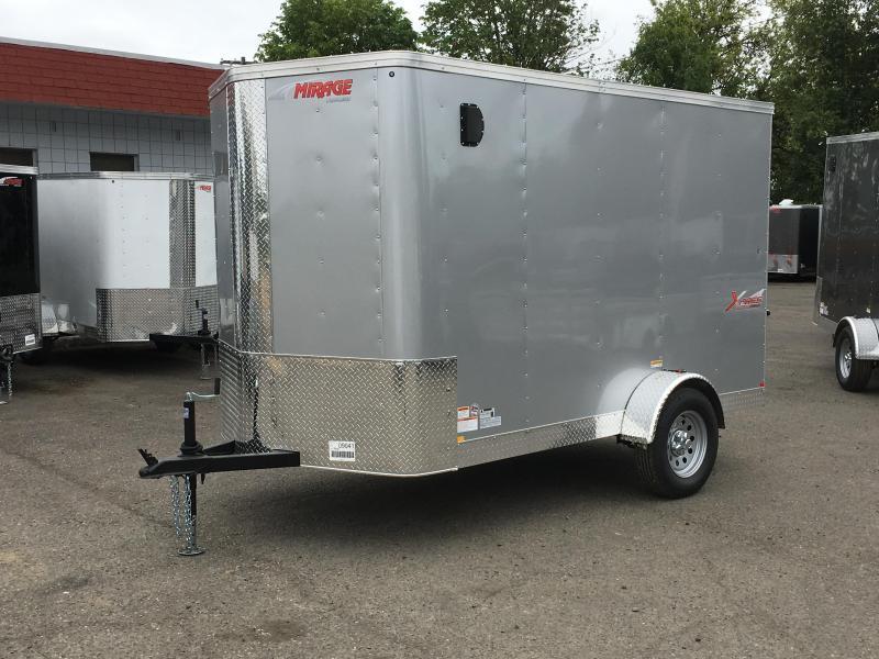 5x10 Enclosed Cargo Trailer With Ramp Door No Side Door S&D