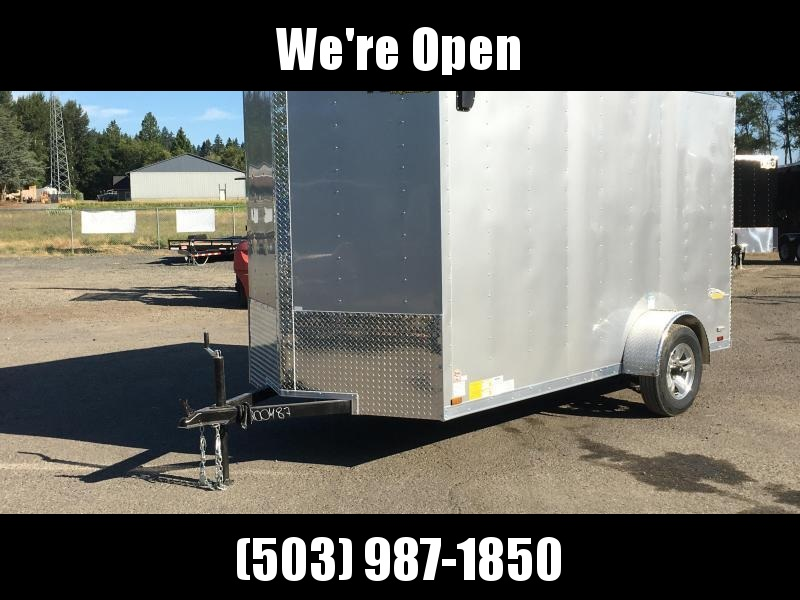 6x10 Enclosed Cargo Trailer With Rv Door And Double Door
