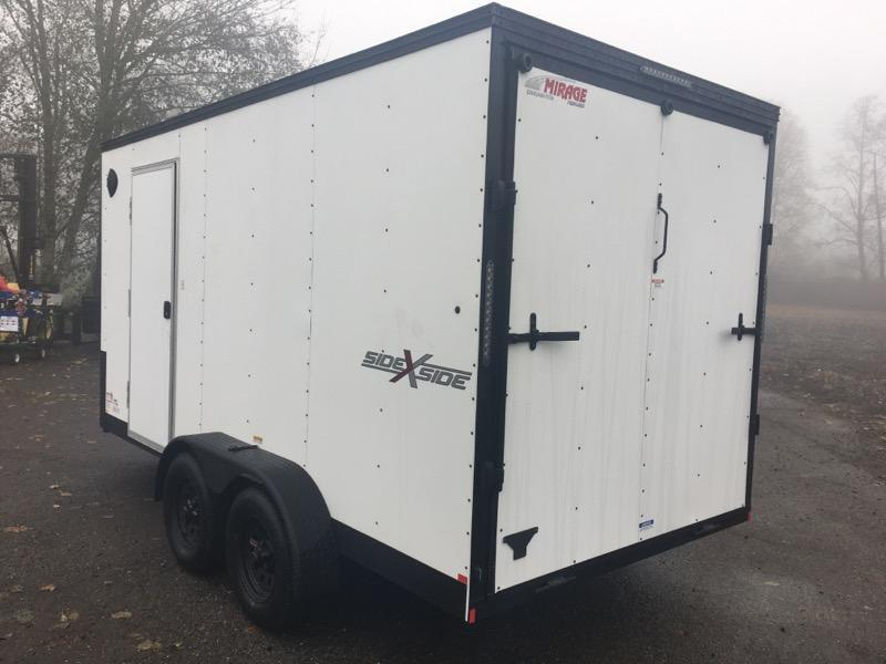 7x14 Enclosed Cargo Trailer **Side by Side**