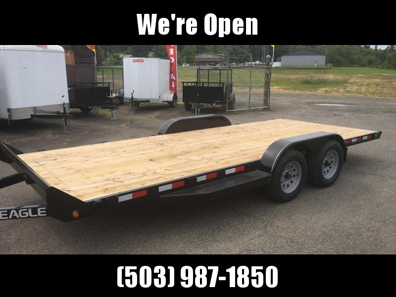 7x16 Car Hauler 7k Open Trailer 5 Inch Main Frame