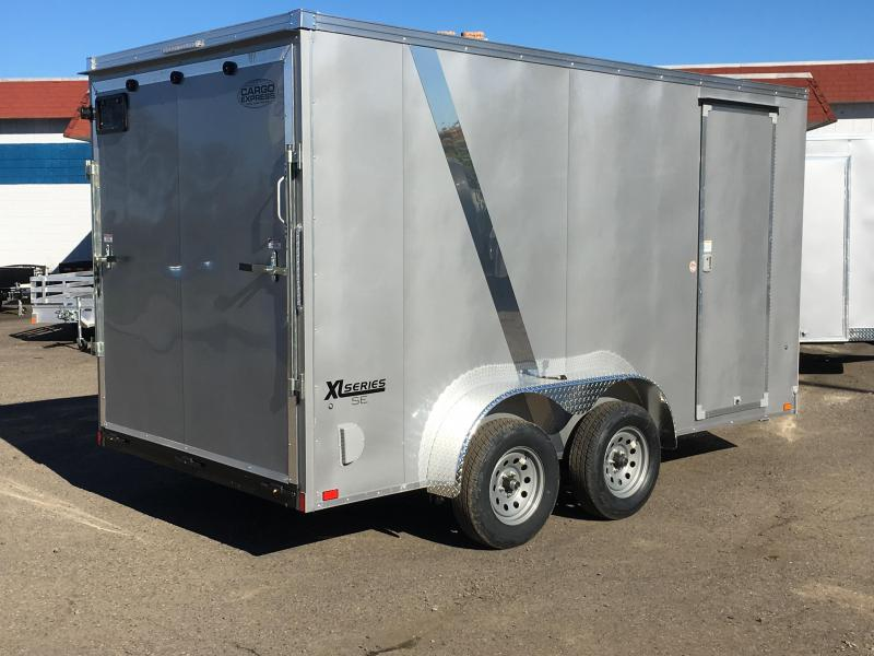 7x12 Enclosed Cargo Trailer With Ramp Door Plus Height And Rv Door