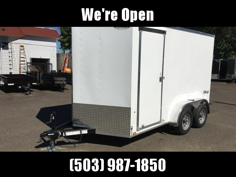 7x12 Enclosed Cargo Trailer **Side X Side**