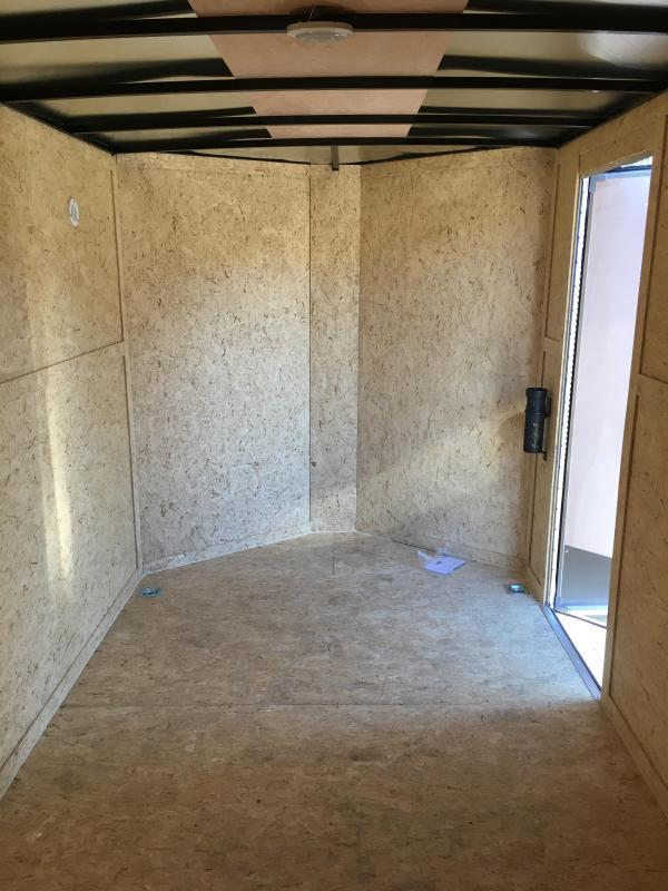 7x12 Enclosed Cargo Trailer With Ramp Door Plus Height And Rv Door