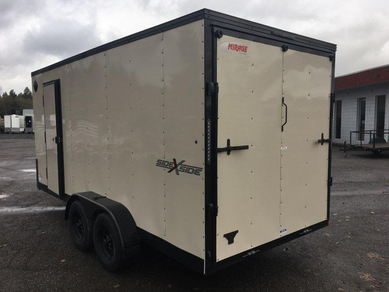 7x16 Enclosed Cargo Trailer **Side by Side**