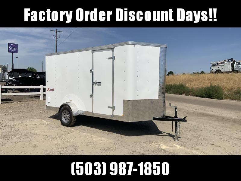 6x12 Enclosed Cargo Trailer with Plus Height and Ramp Door **FACTORY ORDER**