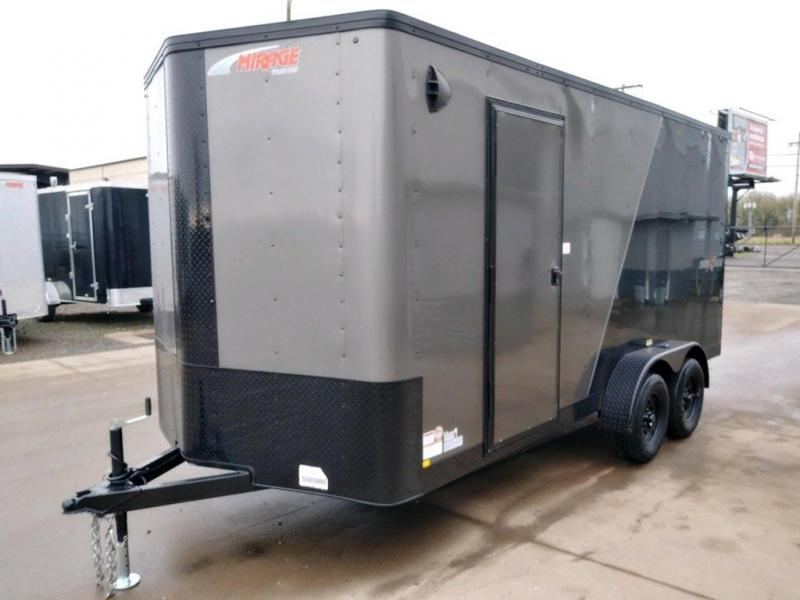 7x16 Enclosed Cargo Trailer  **  Side x Side Package  **  Rear Ramp Door  **